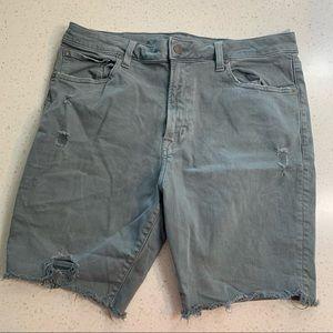American Eagle distressed cut off jean shorts